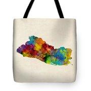 El Salvador Watercolor Map Tote Bag