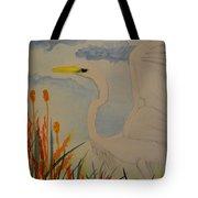 Elana - Egret Tote Bag