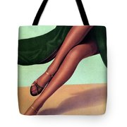 e5a0040ec80 Elbeo Tights And Stockings - High Heels - Vintage Advertising Poster Tote  Bag