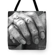 Elderly Hands Tote Bag