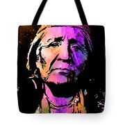 Elderly Hupa Woman Tote Bag