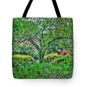 Elderly Man At St. Luke's Garden Tote Bag