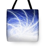 Electric Beams Tote Bag
