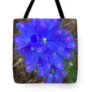 Electric Blue Flower Tote Bag