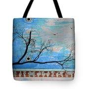 Electric Blue Skies Tote Bag