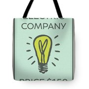 Electric Company Vintage Monopoly Board Game Theme Card Tote Bag