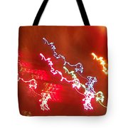Electric Dazzle Abstract Tote Bag