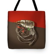 Electric Drill Motor, Green Trigger On Colored Paper Tote Bag