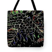 Electric Ferns Tote Bag
