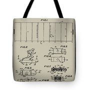 Electric Football Patent 1955 Aged Gray Tote Bag
