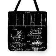 Electric Football Patent 1955 Black Tote Bag