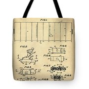 Electric Football Patent 1955 Sepia Tote Bag