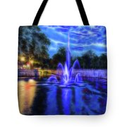 Electric Fountain  Tote Bag