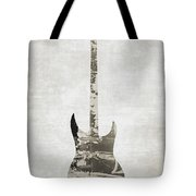 Electric Guitar Sepia Tote Bag