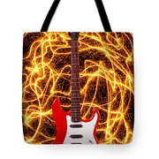 Electric Guitar With Sparks Tote Bag