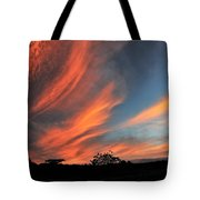 Electric Hawaiian Sunset Big Island Hawaii Tote Bag