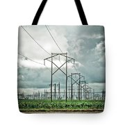 Electric Lines And Weather Tote Bag