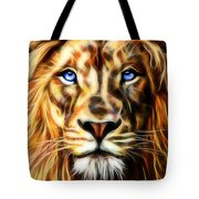 Electric Lion Wall Art Collection Tote Bag