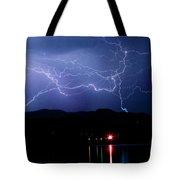Electric Skies  Tote Bag