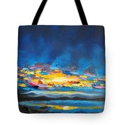 Electric Skies Tote Bag