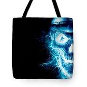 Electric Skull Tote Bag