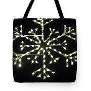 Electric Snowflake Tote Bag
