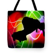 Electric Spectrum Skateboarder Tote Bag