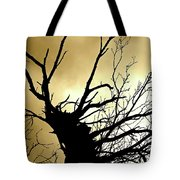 Electric Tree Black And Gold Tote Bag