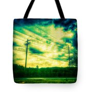 Electric Wires Across The Land Tote Bag