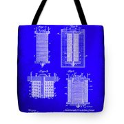 Electrical Battery Patent Drawing 1e Tote Bag