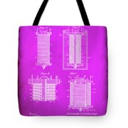 Electrical Battery Patent Drawing  Tote Bag