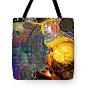 Electromagnetic Lighthouse Thirdeye Portal Tote Bag by Joseph Mosley