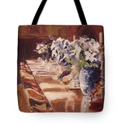 Elegant Dining At Hearst Castle Tote Bag