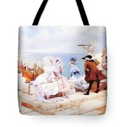 Elegant Figures Watching The Regatta Tote Bag
