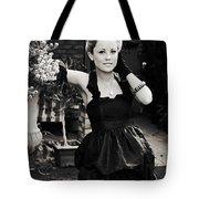 Elegant Gardening Lady Tote Bag