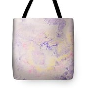 Elegant Hand Made Ink Design In Purple And Yellow Tote Bag