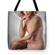 Elegant Johanna In Peach Tote Bag