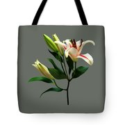 Elegant Lily And Buds Tote Bag