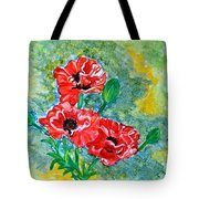 Elegant Poppies Tote Bag