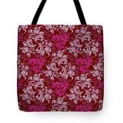 Elegant Red Floral Design Tote Bag