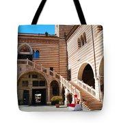 Elegant Scala Della Ragione - Verona Italy Tote Bag