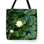 Elegant Water Lily Tote Bag