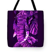 Elephant And Baby Tote Bag