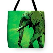 Elephant Animal Decorative Green Wall Poster 4 Tote Bag