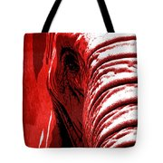Elephant Animal Decorative Red Wall Poster 14 - By  Diana Van Tote Bag