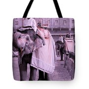 Elephant At Amber Fort Tote Bag