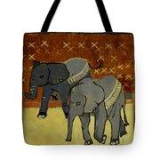Elephant Calves Tote Bag