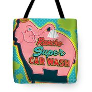 Elephant Car Wash - Rancho Mirage - Palm Springs Tote Bag by Jim Zahniser