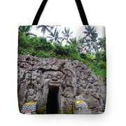 Elephant Cave Temple Tote Bag