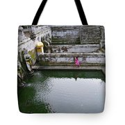 Elephant Cave Temple Fountain Tote Bag